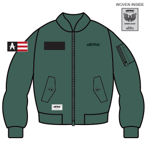 ABSTRAX MILITARY ARMY-GREEN BOMBER