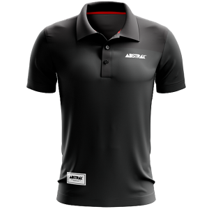 ABSTRAX #2TONE BLACK+MISTY GREY POLO SHIRT