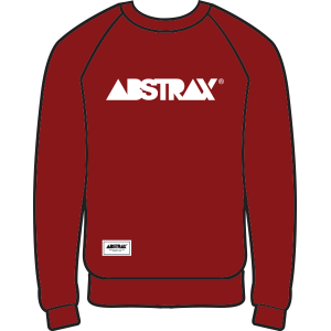 ABSTRAX CREWNECK SWEATSHIRT (RED/WHITE)