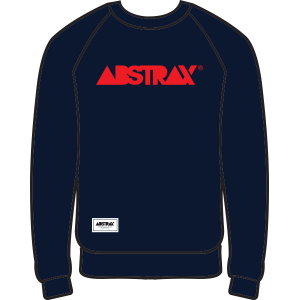 ABSTRAX CREWNECK SWEATSHIRT (NAVY BLUE/ORANGE)