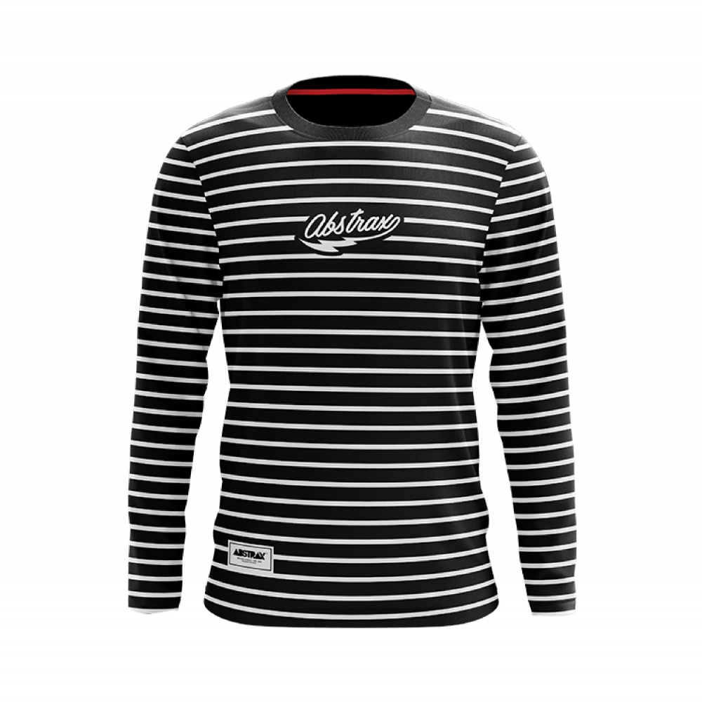 ABSTRAX MONOCHROME STRIPE FULL (LONG-SLEEVE)