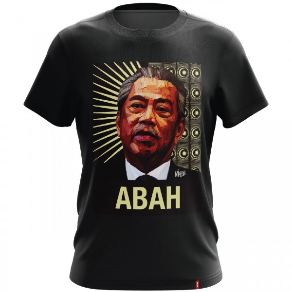 TSMY PREMIUM ABAH CORE-PATTERN T-SHIRT ( Medium )