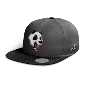 ABSTRAX ANGRY PANDA SNAPBACK (GREY-BLACK)