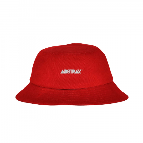 ABSTRAX® REVERSIBLE LOGOTYPE BUCKET-HAT (BLACK/RED)