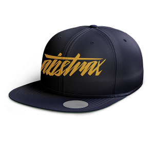 ABSTRAX HYPERLETTER SNAPBACK NAVY BLUE