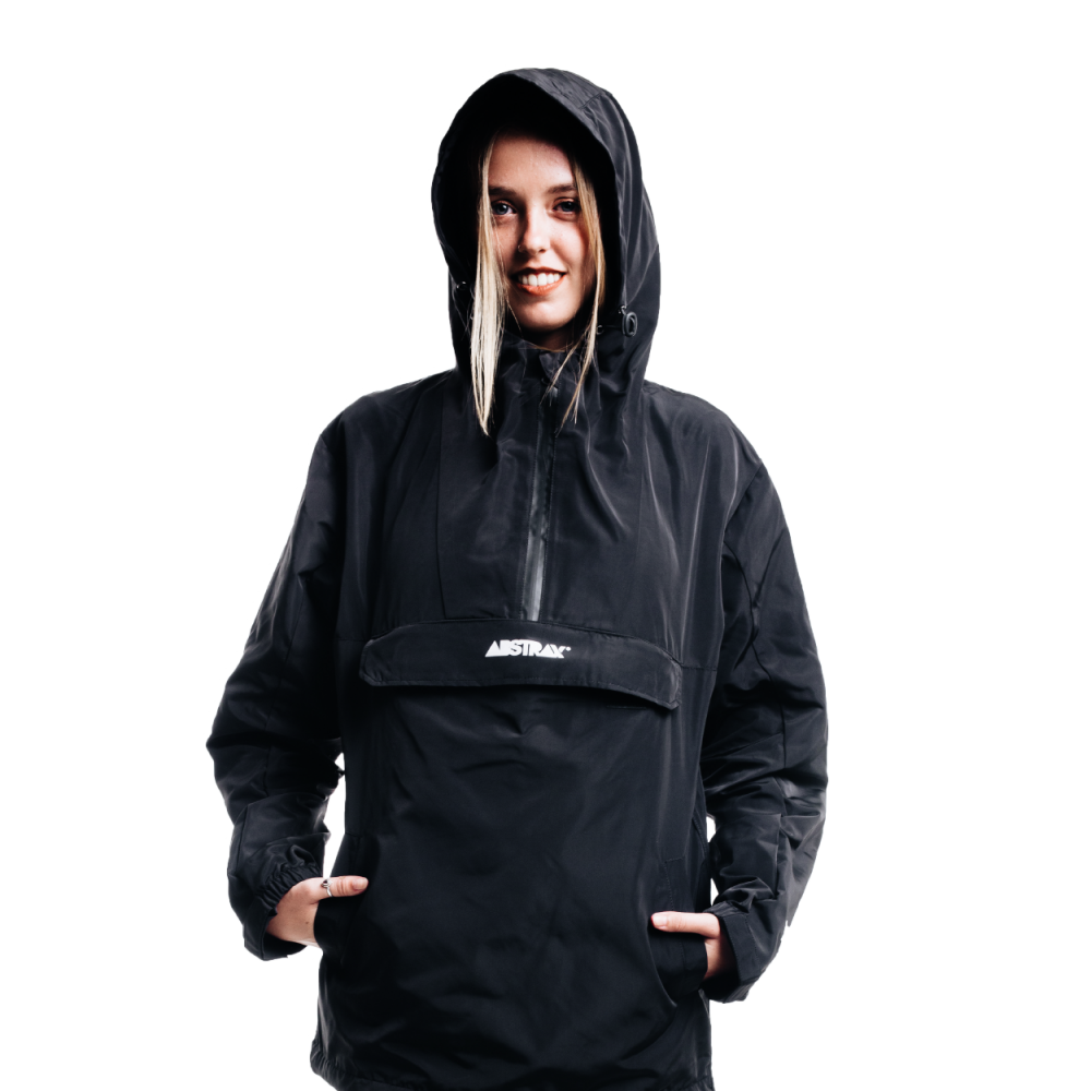 ABSTRAX ANORAK BLACK/WHITE LOGOTYPE