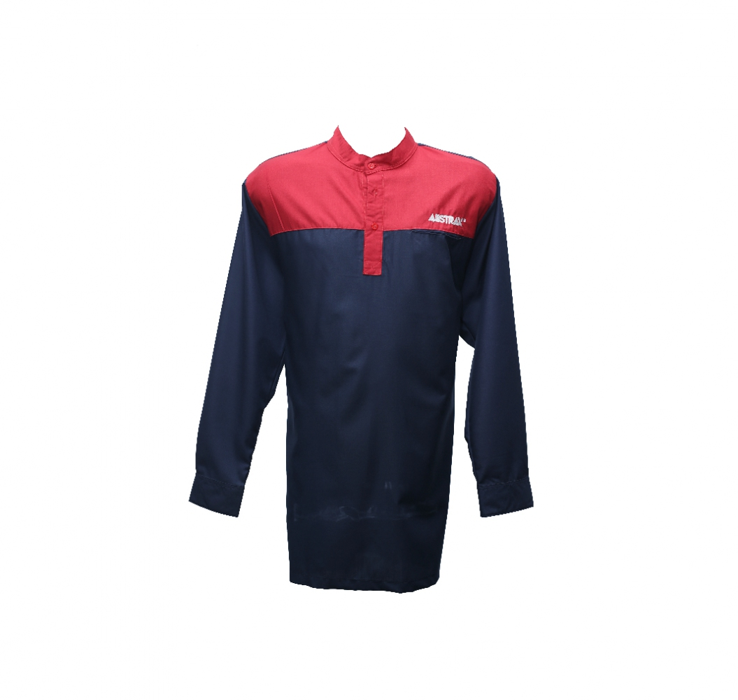 ABSTRAX x BE KAY #2TONE NAVY+RED KURTA (LIMITED)