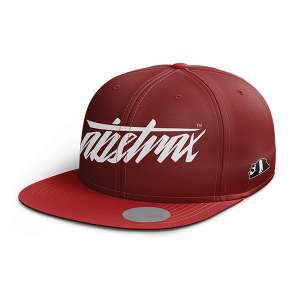 ABSTRAX HYPERLETTER RED SNAPBACK