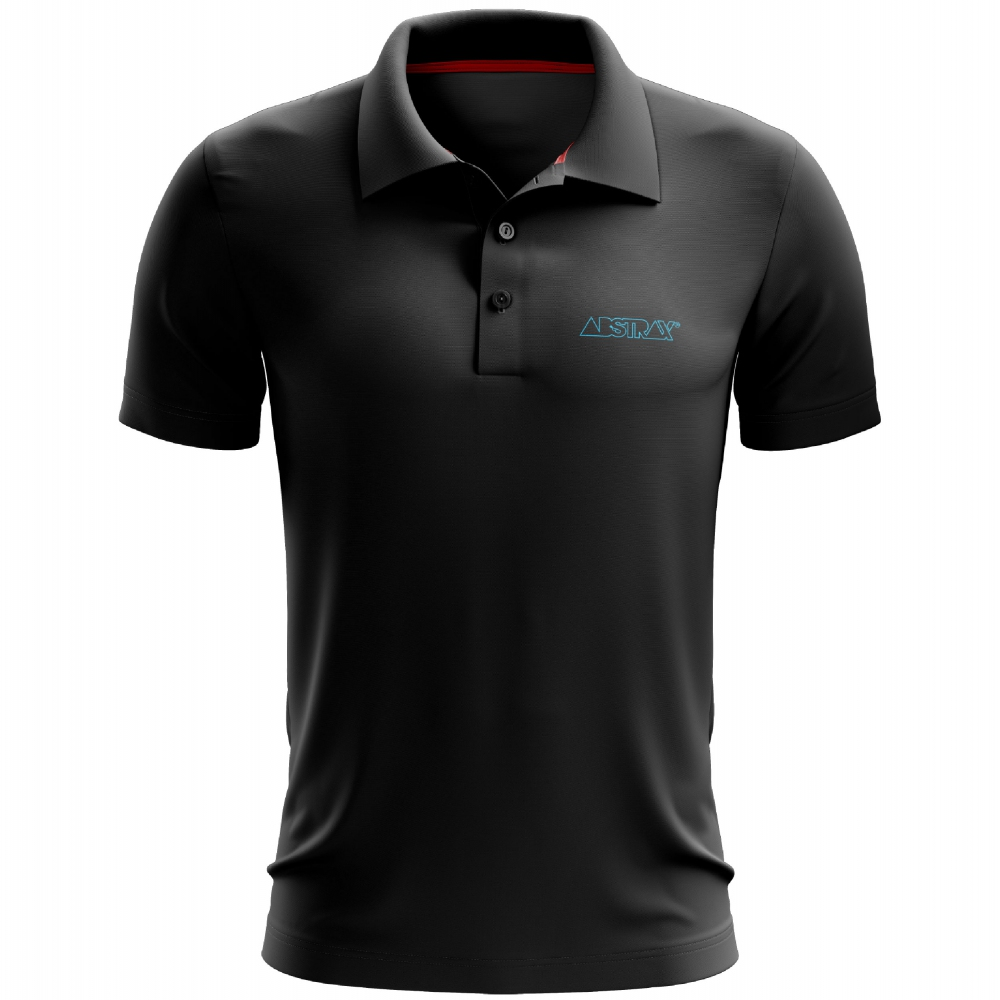 ABSTRAX OUTLINE POLO SHIRT (BLACK)