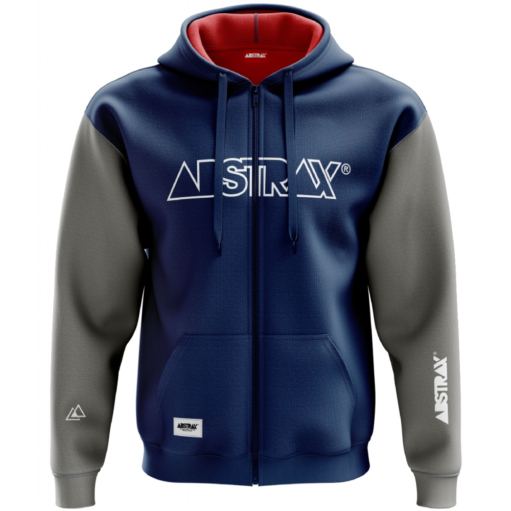 ABSTRAX OUTLINE ZIPPER HOODIE (NAVY/GREY-MISTY) 2019 ( 3X-Large )