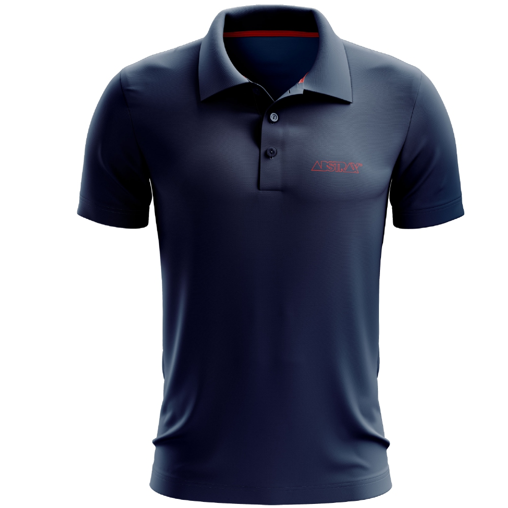ABSTRAX OUTLINE POLO SHIRT (NAVY)