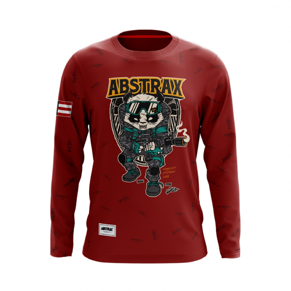 ABSTRAX PANDA ARMOUR LONG-SLEEVE (MAROON)