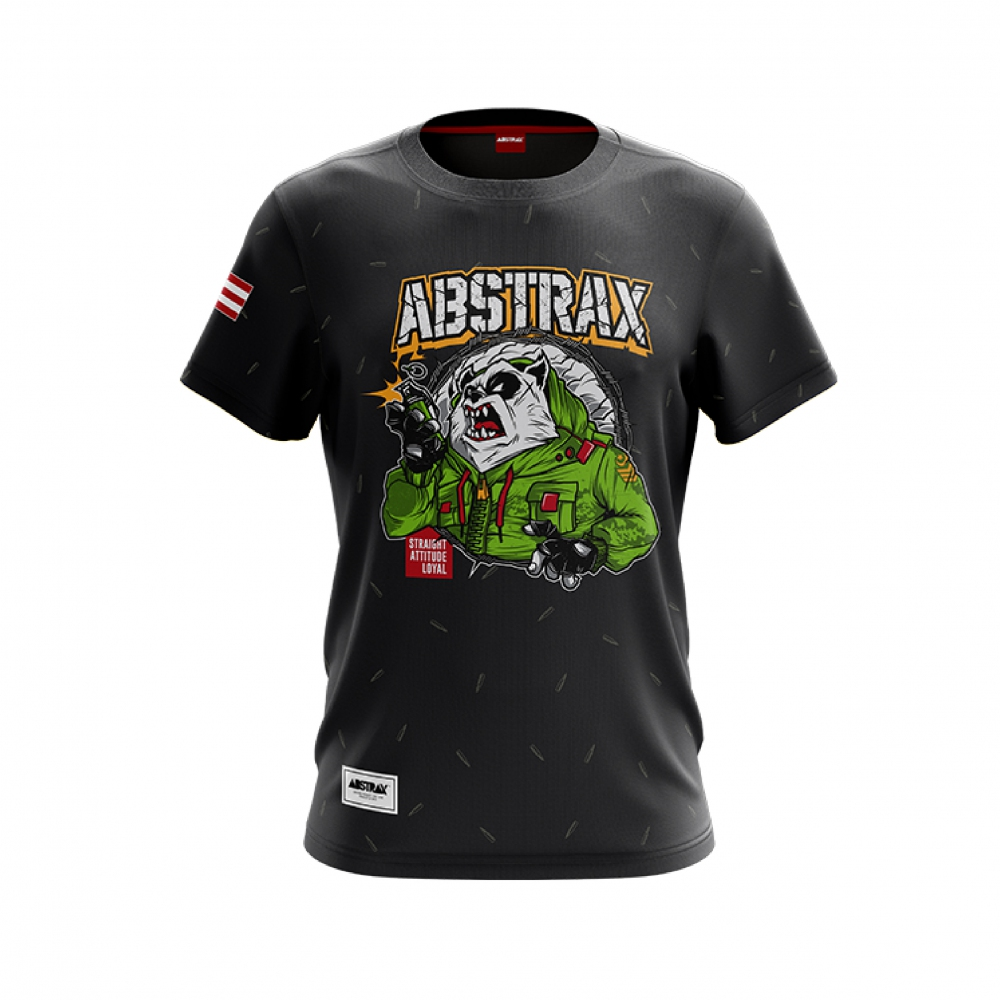 ABSTRAX PANDA GRENADE SHORT-SLEEVE (DARK-GREY)