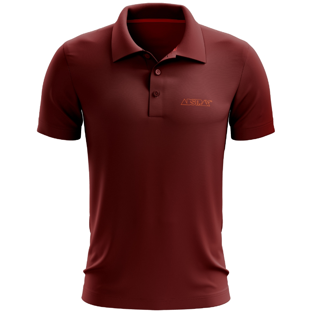ABSTRAX OUTLINE POLO SHIRT (MAROON)