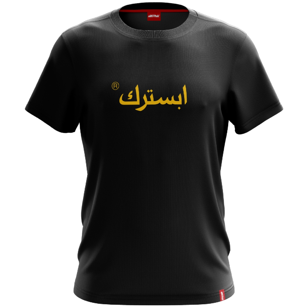 ABSTRAX JAWI SHORT-SLEEVE SHIRT (Black-Yellow)