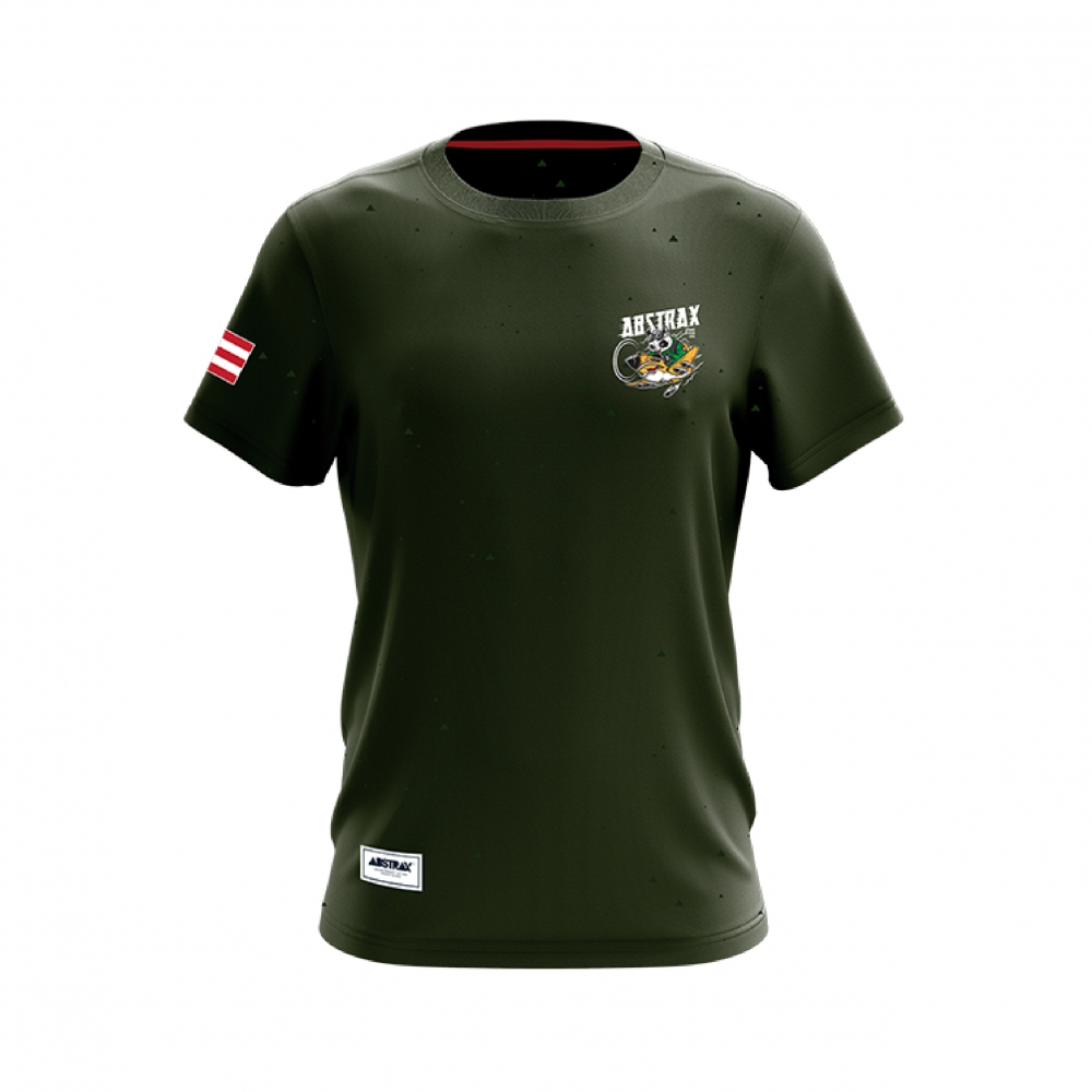 ABSTRAX TERRITORY PANDA AVIATOR ARMY-GREEN SHORT-SLEEVE (LIMITED)