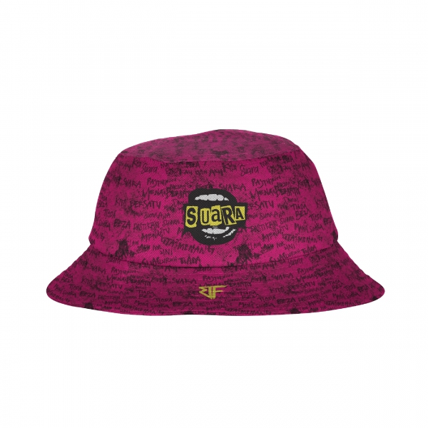 ABSTRAX® X BUNKFACE! SUARA BUCKET-HAT (REVERSIBLE)