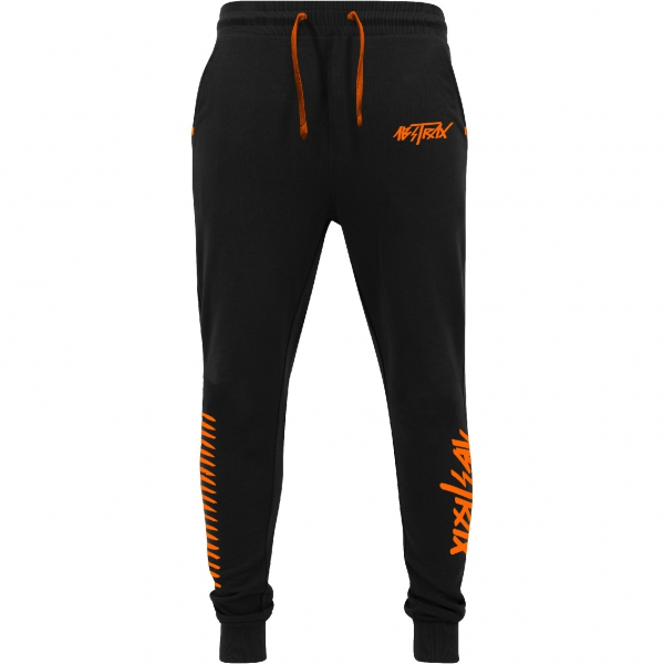 ABSTRAX® HYPERLETTER +AJSWEATPANTS BLACK/ORANGE (LIMITED EDITION) ( Medium )
