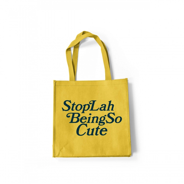 "ABSTRAX® x HARITH ZAZMAN ""CUTE "" TOTE-BAGE (YELLOW/BLUE) COMBO"