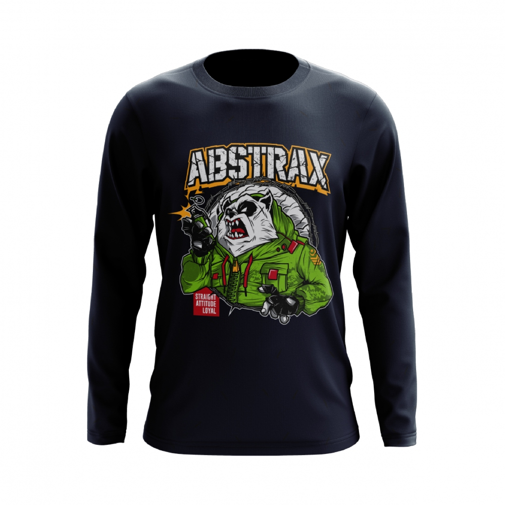ABSTRAX PANDA GRENADE LONG-SLEEVE (NAVY-BLUE)