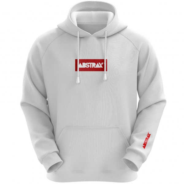ABSTRAX® Logobox Hoodie (White) ( Large )