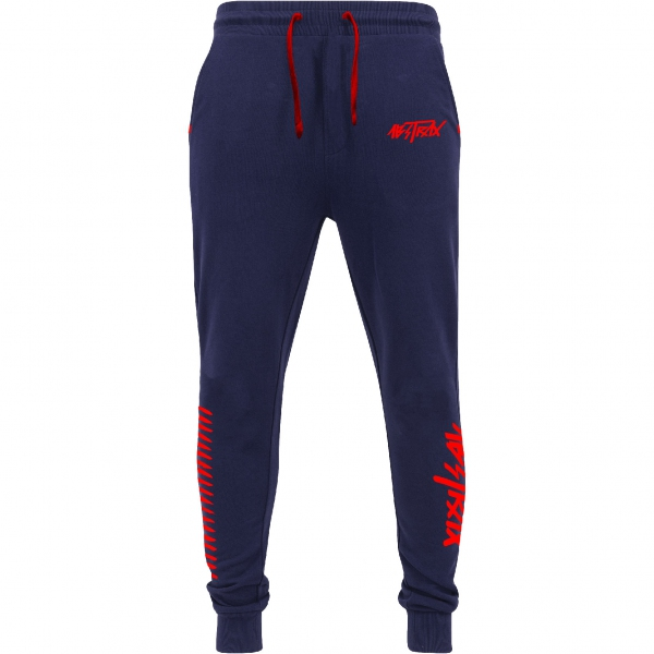 ABSTRAX® HYPERLETTER +AJSWEATPANTS NAVY-BLUE/RED (LIMITED EDITION) ( Medium )