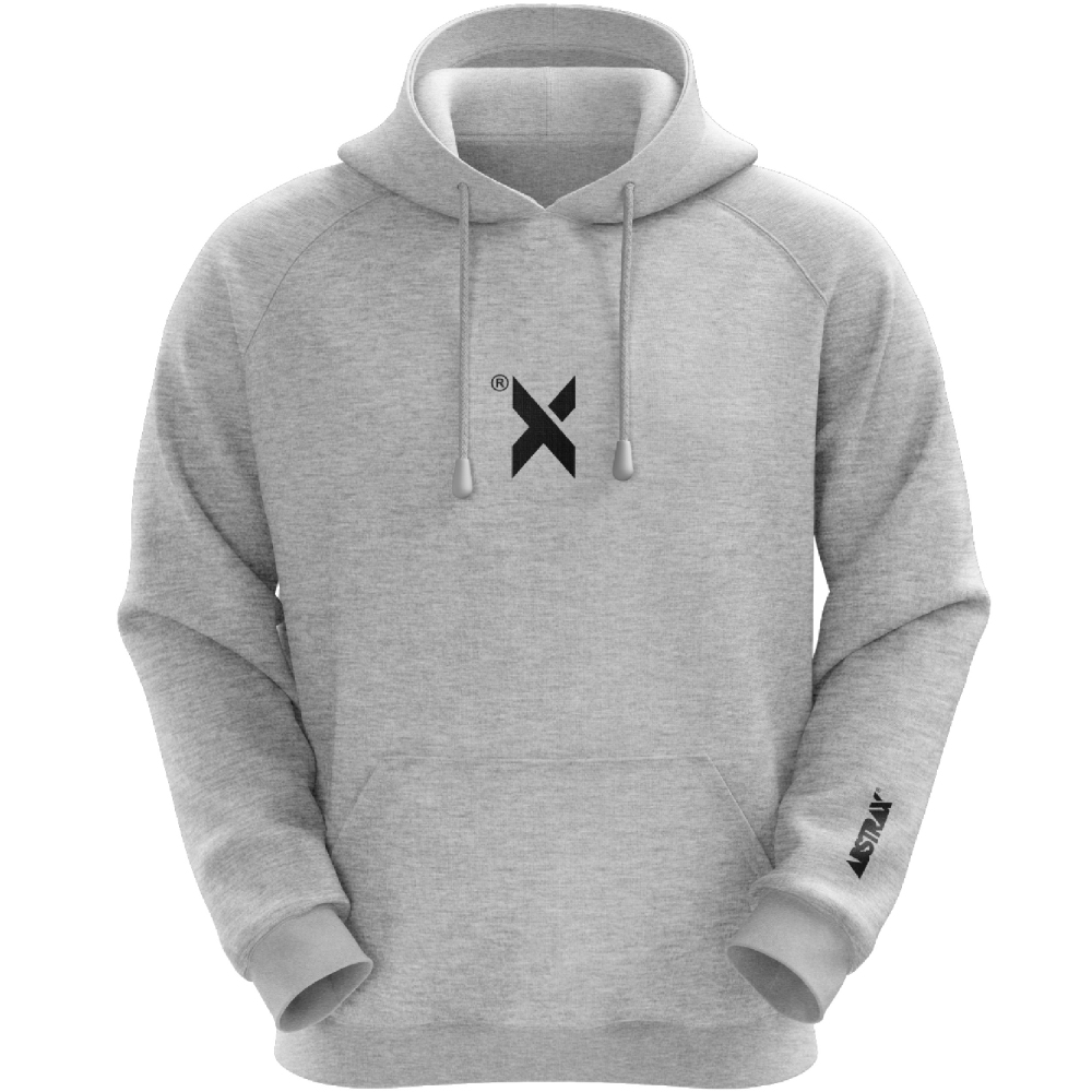ABSTRAX DEKAD X HOODIE (GREY MISTY/BLACK) ( 4X-Large )