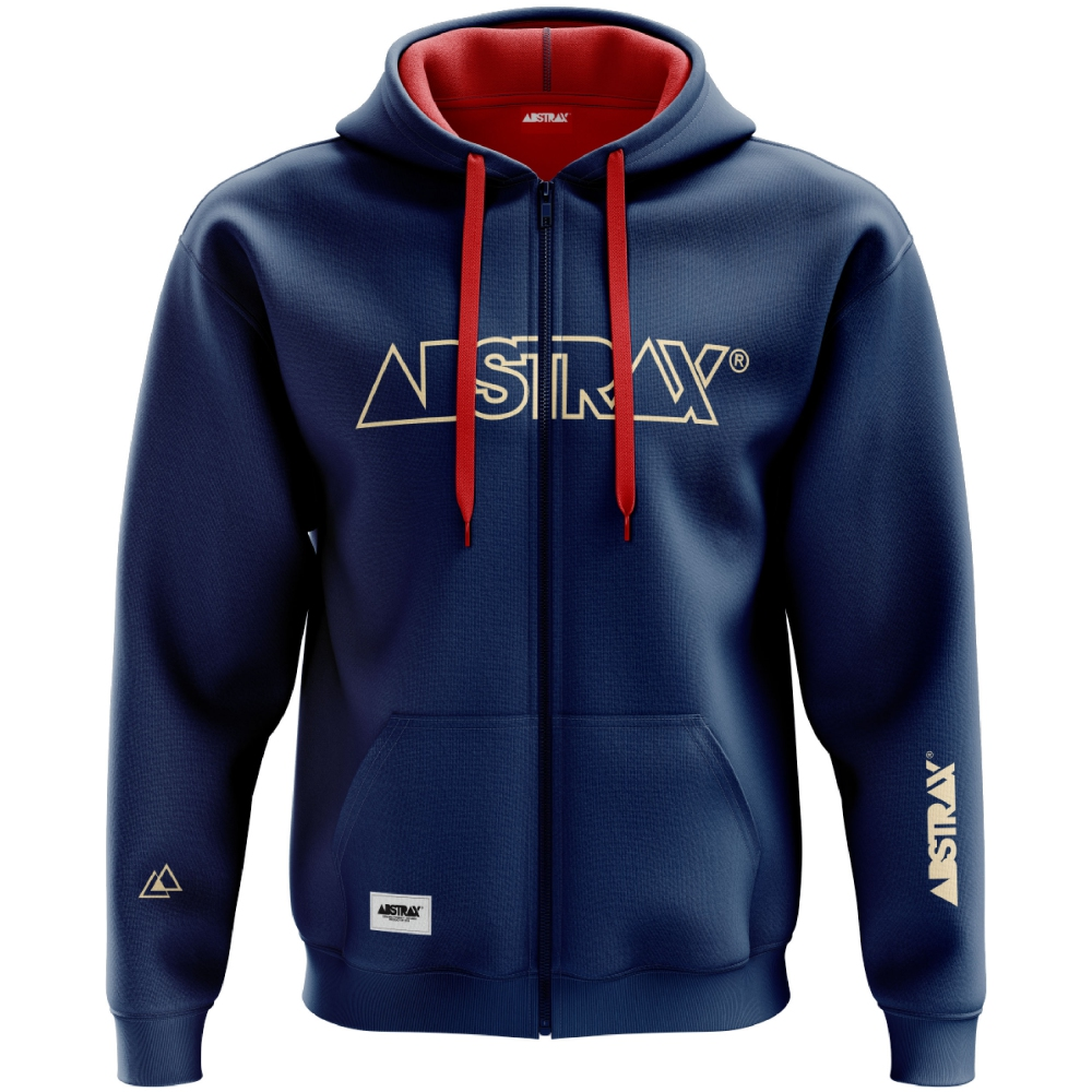 ABSTRAX OUTLINE ZIPPER HOODIE (NAVY/BEIGE) 2019 ( 5X-Large )