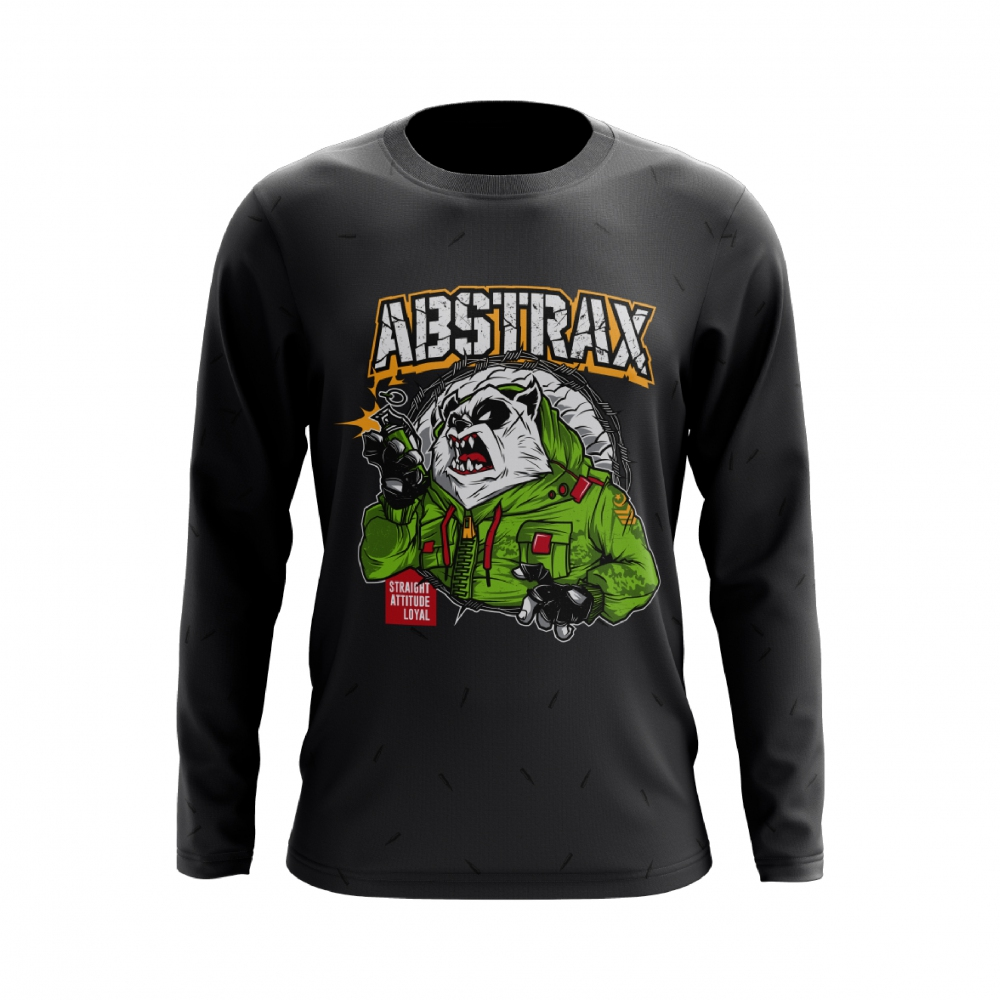 ABSTRAX PANDA GRENADE LONG-SLEEVE (DARK-GREY)