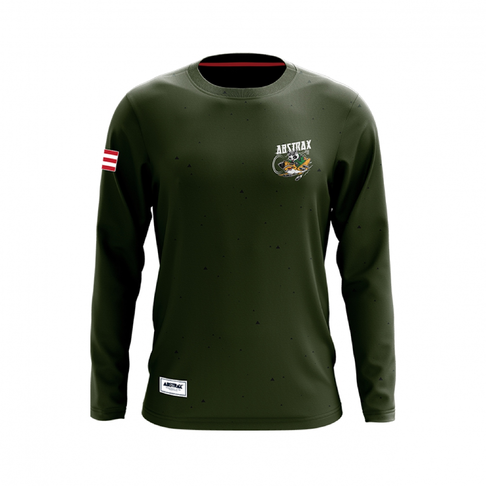 ABSTRAX TERRITORY PANDA AVIATOR ARMY-GREEN LONG-SLEEVE (LIMITED)