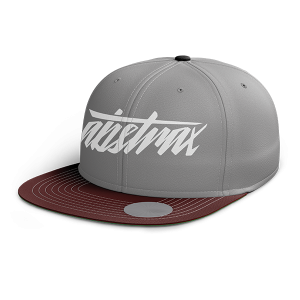 ABSTRAX HYPERLETTER SNAPBACK GREY RED