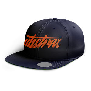 ABSTRAX HYPERLETTER BLUE SNAPBACK