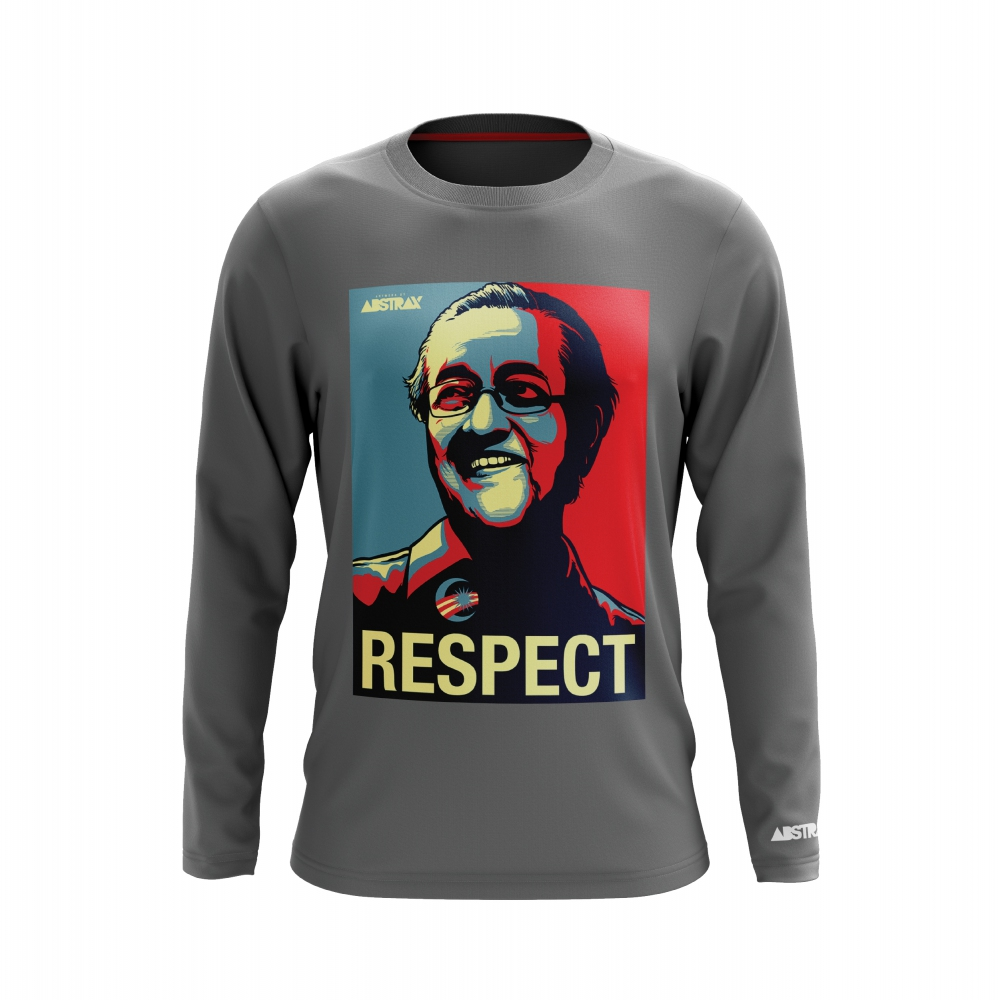 TMR PREMIUM RESPECT T-SHIRT GREY (LONG)