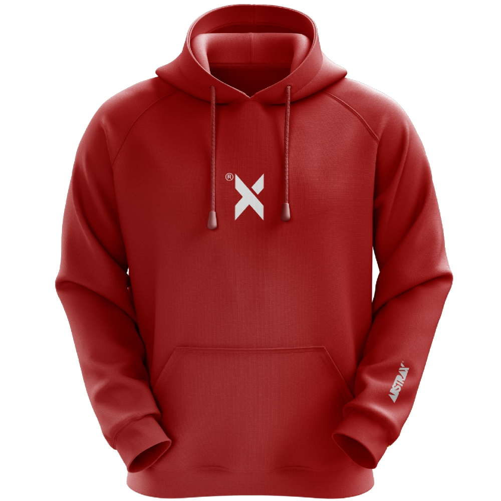 ABSTRAX DEKAD X HOODIE (RED WHITE) ( Large )