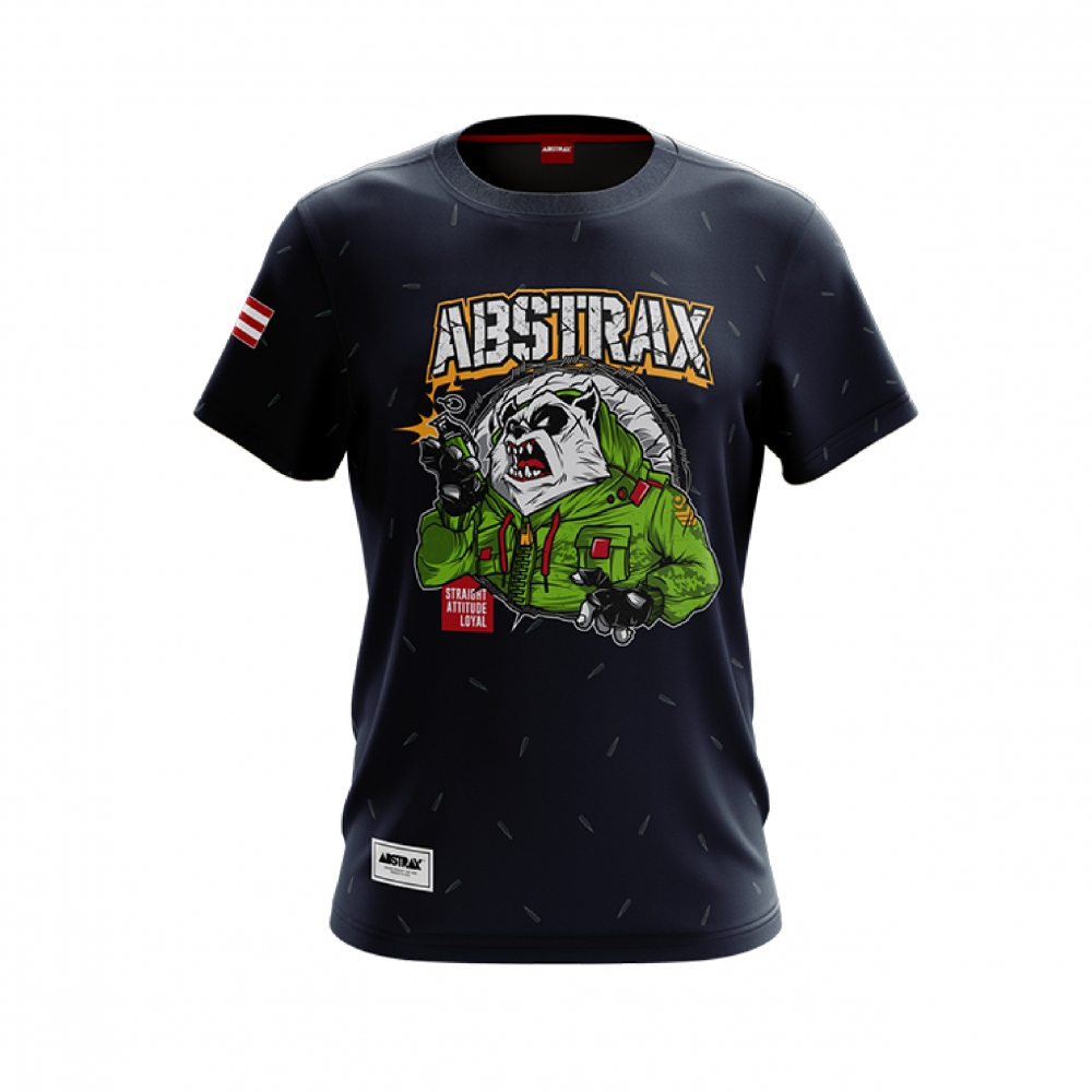 ABSTRAX PANDA GRENADE SHORT-SLEEVE (NAVY-BLUE)