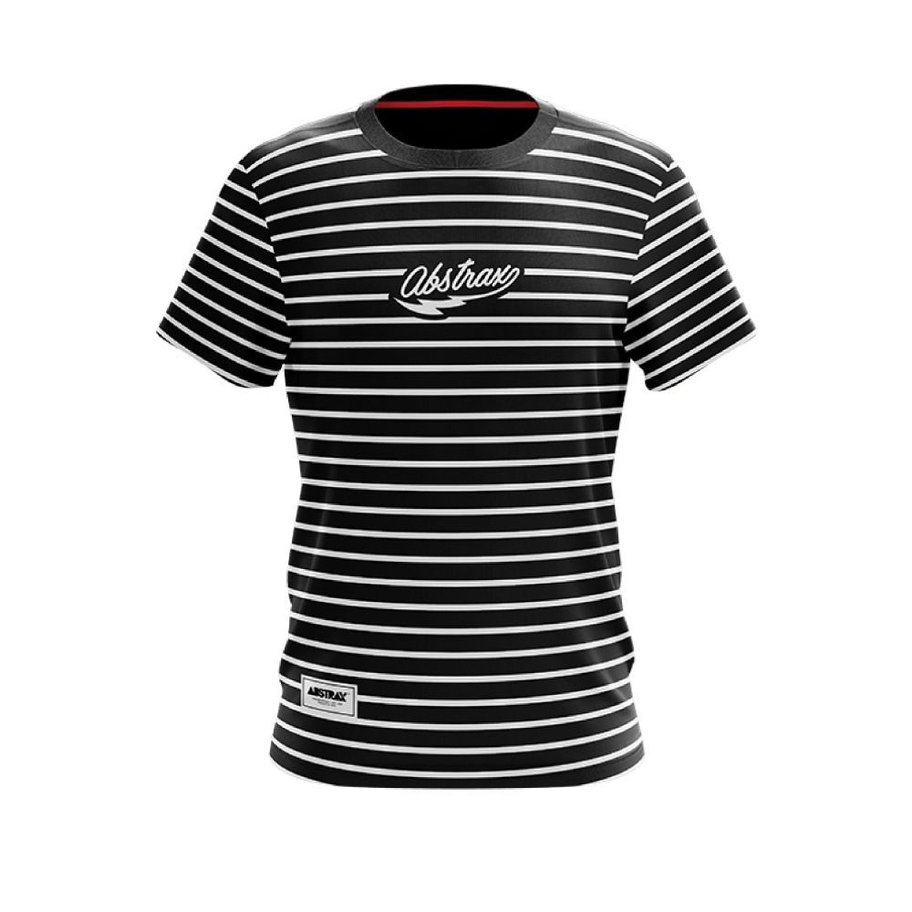 ABSTRAX MONOCHROME STRIPE FULL (SHORT-SLEEVE)