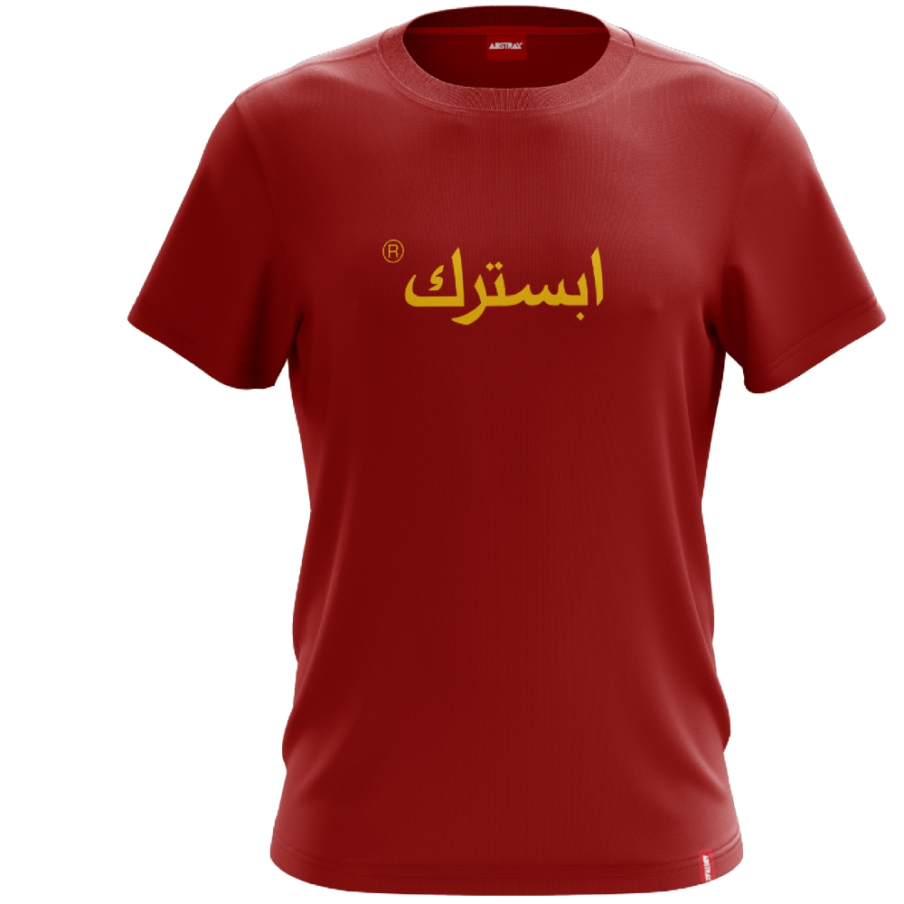 ABSTRAX JAWI SHORT-SLEEVE SHIRT (Red-Yellow)