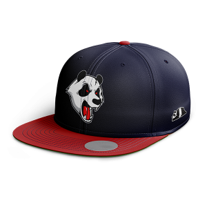 ABSTRAX ANGRY PANDA SNAPBACK (NAVY BLUE-RED)