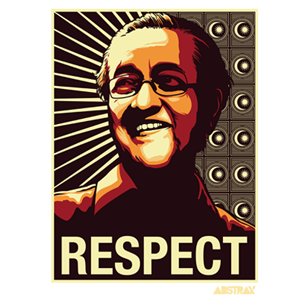 TMR RESPECT CORE-PATTERN CAR-STICKER